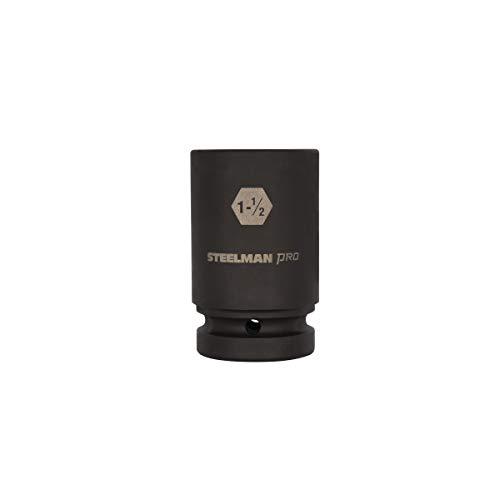STEELMAN PRO 79388 1-Inch Drive x 1-1/2-Inch 6-Point Deep Impact Socket -