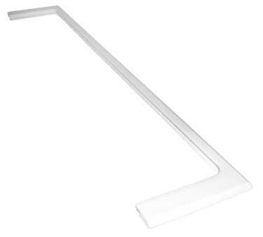 ORIGINAL Liebherr 7412226 vorne Leiste Zierleiste Rahmen Halter Schiene Einlegeboden Regal Glasboden Halterung Bodenhalterung Schutz Glasplatte Kühlschrank Gefrierschrank Kühl-Gefrier-Kombination