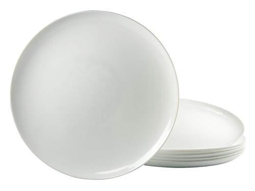 Arcopal/Arcoroc Lot de 6 Assiettes à Pizza Rond 32 cm Luminarc Verre Opale Blanc