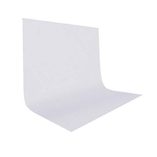 UTEBIT Backdrop Weiß 2x3m/6.6x9.8ft Faltbare Fotoleinwand White Fotoshooting Hintergrund Background Fotohintergrund Widerstand Polyester...