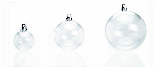 Preisvergleich Produktbild GLOREX Weihnachtskugel, aus Kunststoff, Durchmesser: 40 mm