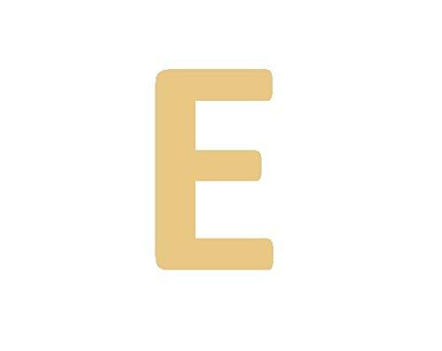 Imagen de gd good.designs est. 2015 pulsera de señora con letras en oro, redondo bañado en oro de 18 quilates, colgante inicial con grabado en relieve letra e  alternativa