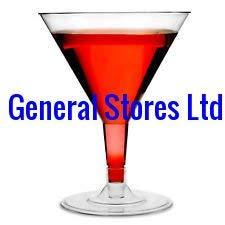12x Kunststoff groß klar Martini Cocktail Wein Party Brille–200ml
