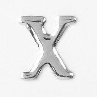 Unique Universel Aluminium Rivers des Lettre X (Argent), 3 Pièces