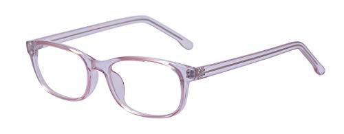 ALWAYSUV Voll Rahmen Rechteckig Ohne Sehstärke Brillengestelle Damen Transparente Brillenfassung
