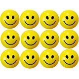 #7: Cute Funny Yellow Smiley Face Squeeze Ball (Pack of 12)