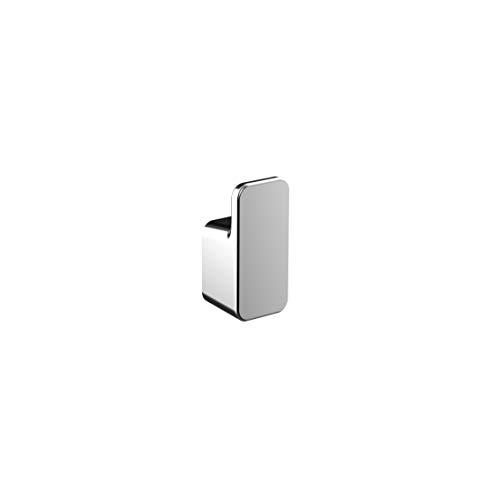 Emco Art Handtuchhaken, Chrom, Handtuchhalter zur Wandmontage, Badhaken, Gäste-WC, Länge 24 mm - 167500100, Grau