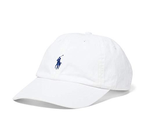 Polo Ralph Lauren - Chino Baseballkappe - Weiß mit blauem Logo