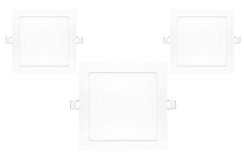 NuLoXx 3er Pack LED Panel Square 24W/740 4000K neutralweiß 1750LM AC 80…260V, 120° Abstrahlwinkel, Einbau-Deckenleuchte quadratisch ersetzt 60 Watt