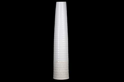 Urban Trends 52011 Vase, Steingut, elfenbeinfarben (Gesprenkelte Steingut)