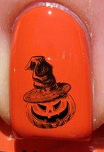Halloween Sorcière citrouille- Stickers pour ongles YRNAILS