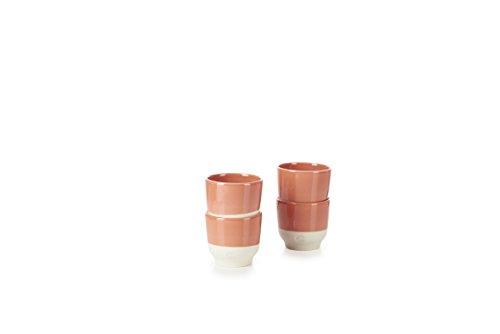 REVOL RV648911 Tasse Espresso, Porcelaine, Orange Capucine, 6,5 x 6,5 x 6 cm
