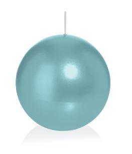 Bougie ronde 12 Ø 70 mm turquoise, Brûler temps en heures 16, Bougies pour l'événement, partie, occasion, baptême, mariage, Avent, Noël, décoration