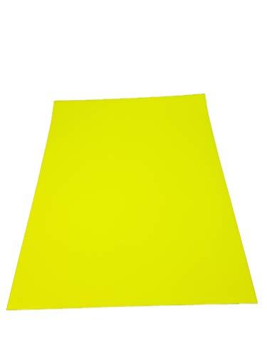 Quattroerre 16365 foglio pellicola adesivo car wrapping, giallo fluo, 50 x 70 cm