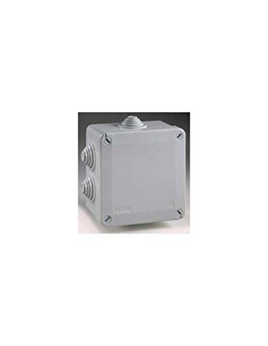 boite de dérivation - a tétines - 100 x 100 x 50 mm - gris - boite étanche - iboco 05534