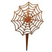 rtenstecker Spinne im Spinnennetz, Garten und Teich Dekoration 23x23 cm ()