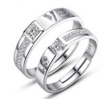 #2: Accessorisingg 925 Silver Plated Love Engraved Couple Rings (Adjustable Size) For Unisex