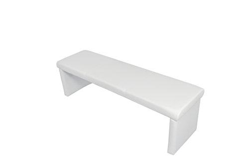 HOMEXPERTS, Vorbank CHARISSE, Küchenbank 140 cm breit in weiß, Moderne, gepolsterte Sitzbank, Kunstleder-Bank weiß, Bank ohne Lehne: B 140 x H 48 x T 45 cm
