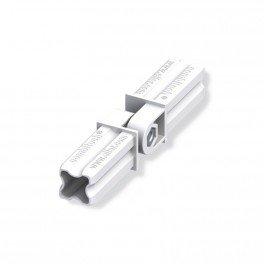 Connecteur articulé blanc 23.5mm 2 embouts pour tube alu et pvc