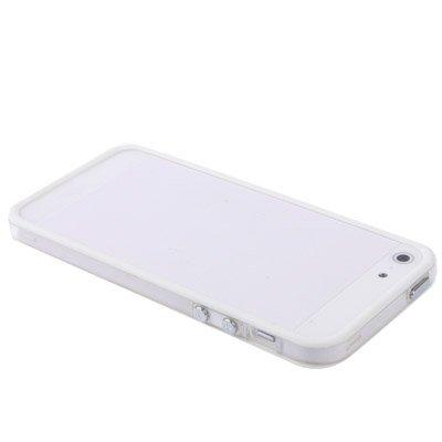 iPhone 5-5s-SE Bumper Schutz-Hülle im stylishen 2-Color Look für das iPhone SE 5 und 5s (4 Zoll) -Nur original von THESMARTGUARD- Farbe: Orange Weiß