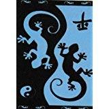 Set Badetuch Riesen Gecko (blau) 100% ägyptischer Baumwolle Mod: (412 B) 90 x170 cm