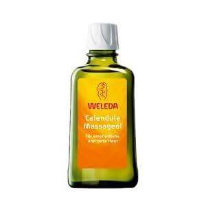 WELEDA Calendula Massage-Öl, Naturkosmetik Körperöl für die Pflege und Massage empfindlicher Haut, belebt und hält die Haut glatt, Pflegeöl mit einem erholsam frischen Duft (1 x 100 ml)