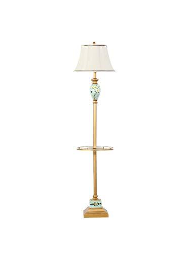 ZYear Kreative vertikale Stehlampe American Garden Stock Leselampe mit Tablett Tisch Schlafzimmer Studie Tischlampe