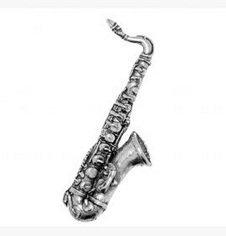 Dans une boîte cadeau en étain Musique Musicien Saxophone de–Pin's (épinglette/Broche/Badge
