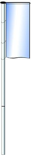 MWI Fahnenmast 6,00m HüB zweiteilig mit Drehkopfausleger - Z8b\nAluminium eloxiert