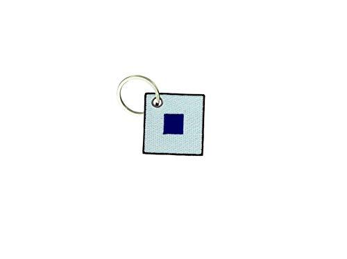 Akachafactory portachiavi ricamato patch toppa bandiera codice internazionale nautico s sierra