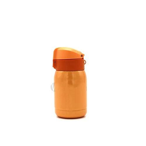 200ML Thermoskanne Kaffee Kühler Edelstahl Getränkewasserflasche Becher, orange -