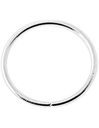 UK Silver Nose Ring Hoop Extra Small 0.6mm Thin Piercing Stud Body Jewellery Cartilage Earrings 8mm Silver