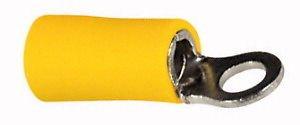 Capicorda Preisolato Occhiello Giallo Foro 4Mm X Cavo Da 4-6 Mmq Kit 10 Pz.
