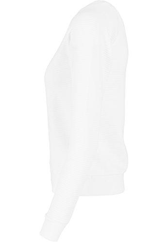 Urban classics pull pour femme à manches courtes crew lit Blanc (Weiß)