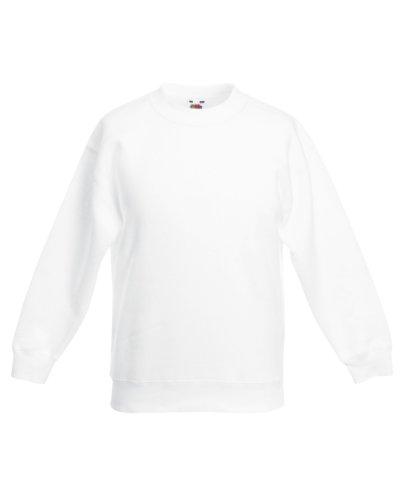 Fruite of the Loom Kinder Sweatshirt, vers. Farben 152,Weiß (Weiße Pullover Kinder)