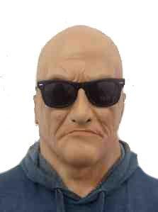 Realistische Alter Mann Maske mit brillen Latex Türsteher/Bruiser 'The Rubber Plantation (Masken Realistische)