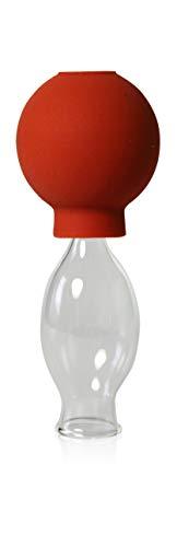 Schröpfglas mit Saugball 15mm zum professionellen, medizinischen, feuerlosen Schröpfen mundgeblasen handgeformt, Schröpfglas, Schröpfgläser, Lauschaer Glas das Original