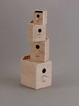 Prevue Pet Products Hardwood Inside Finch Nest Solid Box Bedding Materials Small (Nest Box Finch)