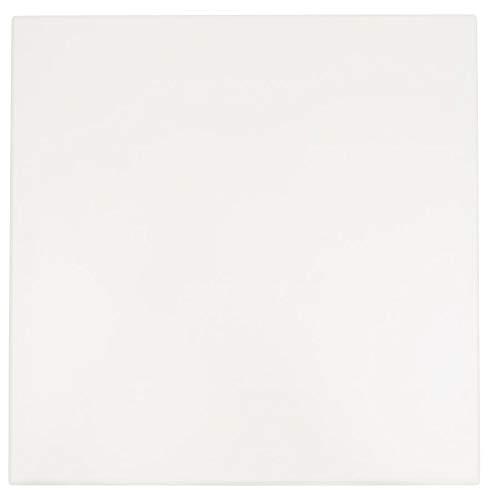 Alterego Plateau de Table 'Punto' carré Blanc intérieur/extérieur - 70x70 cm