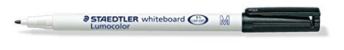 Staedtler 301-9 Lumocolor Whiteboardstift M-Spitze circa 1.0 mm, 10 Stück im Kartonetui, schwarz