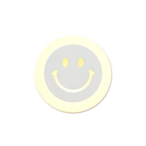 Senna Lighting SL-62727 LED-Wandleuchte, Runde Smiley-Gesichtsform-Wandleuchte, Acryl-Lampenschirm-Wandleuchte, Nachtwandleuchte, Weiße Wandleuchte - Kreisförmige Lampenschirme