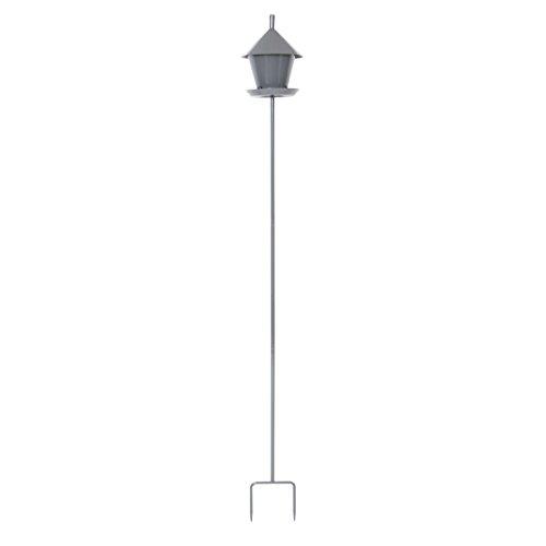 Xclou 336021 Futterhaus für Vögel-Vogelhaus Granit mit Ständer, Dunkelgrau, 18.5 x 18.5 x 151.5 cm