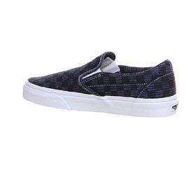 Vans Classic Slip-On (Washed Herringbone) mixte adulte, toile, sneaker slip on Blue/ Check