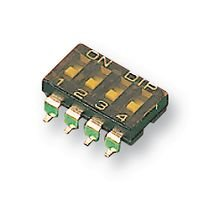 SWITCH, DIL, SMD, 4WAY, SPST, FLUSH MCDM(R)-04-T By MULTICOMP