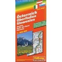 Autriche, Haute Italie, Slovénie. Echelle : 1 : 600 000
