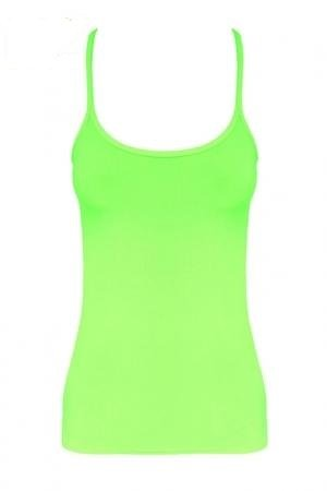 Ladies Neon Green Racer Back Vest Top, Many Colours, Sizes 8 to 16