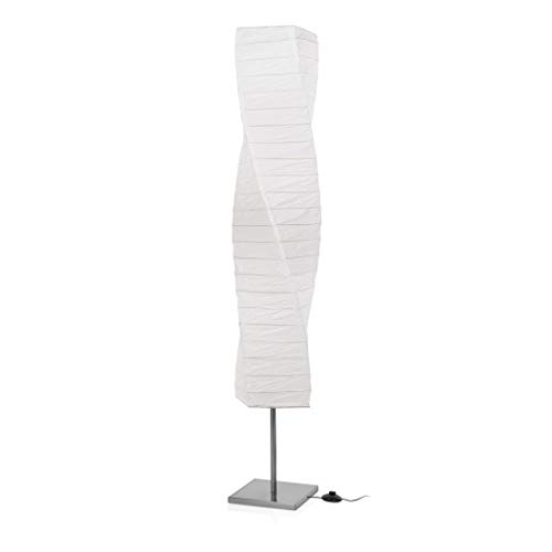 Luminaire Smartwares 6000.040 Twister - Acier brossé - Papier - Blanc