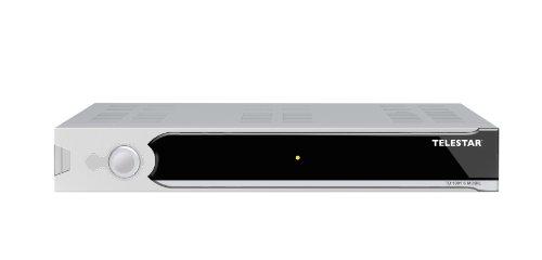 Telestar TD 1001 S mobil digitaler Camping-Sat-Receiver (inkl. Zigarettenanzünderkabel und Netzteil) silber