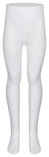 tanzmuster Kinder Ballett Strumpfhose Dana mit Ballenloch, ohne sichtbaren Zwickel in weiß - 134-146