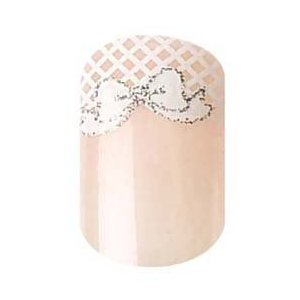 Party Nails Kit d'Ongles Pret-A-Poser 2x Pack de 12 Ongles Total de 24 Ongles Couleur Light Pink w/ White Bow #88511 + A-viva Lime a Ongle Bio !